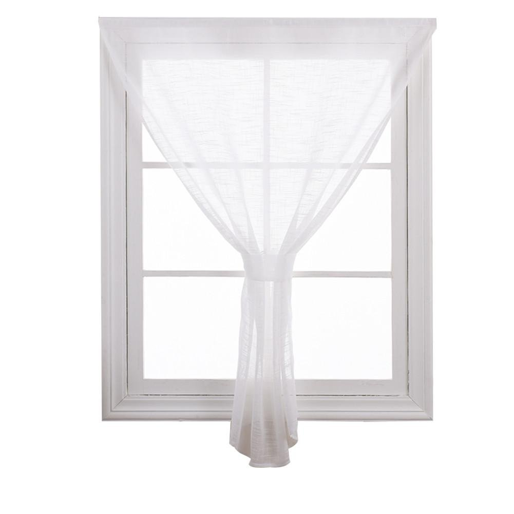 Cortinas y cortinas Cortinas transparentes Velcro Poliéster ...