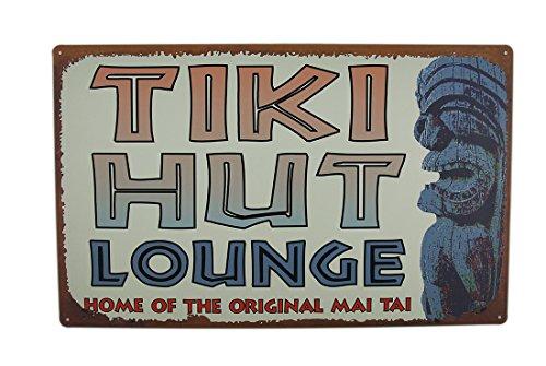 10x16 in. Vintage Finish Retro Tin Tiki Tropical Bar (Tiki 16
