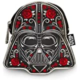Loungefly Coin Purse -Authentic Licensed Star Wars Coin Purse Darth Vader Floral- Faux Leather Coin Bag