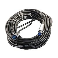 Su cable Almacene su cable de micrófono XLR 3 pines XLR de 50 pies, 28 AWG, 050 Ft (XM-F)