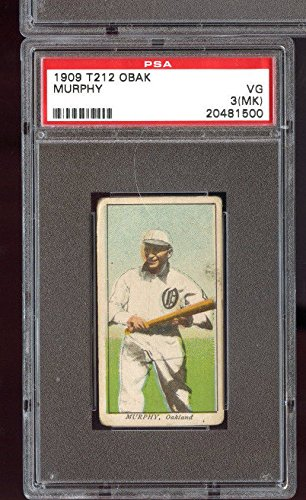 1909 T212 Obak Cigarettes Tobacco Howard Murphy PSA 3 (MK) Graded Baseball Card (Cigarette Baseball Cards)