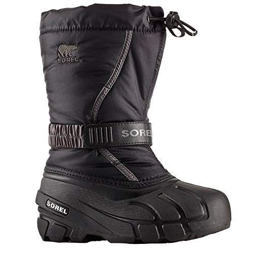 Sorel Youth Snow - SOREL - Youth Unisex Flurry Shell Boot, Size: 5 M US Big Kid, Color: Black/City Grey