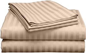 Cruiz Linen Top Selling Sheets Real 600 Thread Count Egyptian Cotton Sheet Set for Queen Size (60