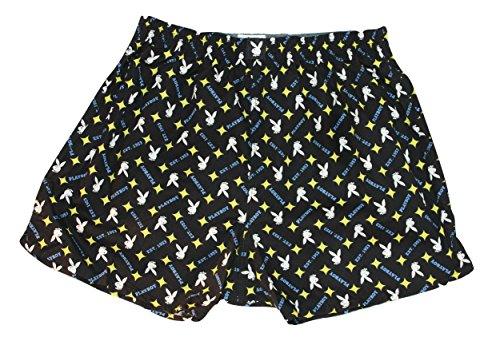 Playboy Bunny Merchandise (Playboy Men's 3 X 100% Original Genuine Mens Underwear Bunny Boxers(Waist 36-40))
