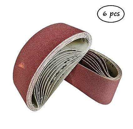 "2/""x72/"" Sanding Belts 80 Grit Premium Zirconia 6pcs"