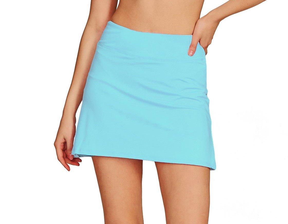 Women's Casual Pleated Tennis Golf Skirt with Underneath Shorts Running Skorts l_bu xs
