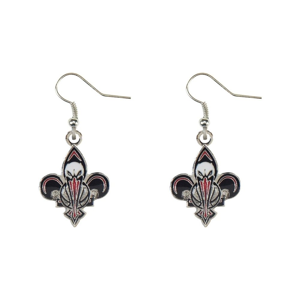 New Orleans Pelicans Dangle Earrings NBA Officially Licensed Product Silver