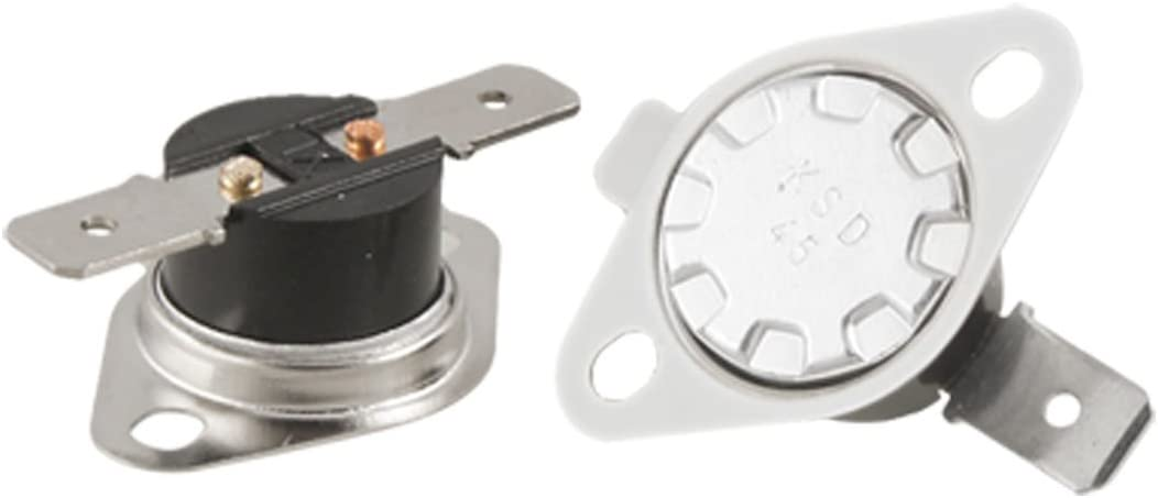 2 x KSD301 Series Temperature Control Switch Thermostat 45 Celsius N.O.
