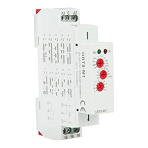 GRT8-M1 Delay Time Relay, Multifunctional Time Relay with 10 Functions DIN Rail Mount AC/DC 12V~240V