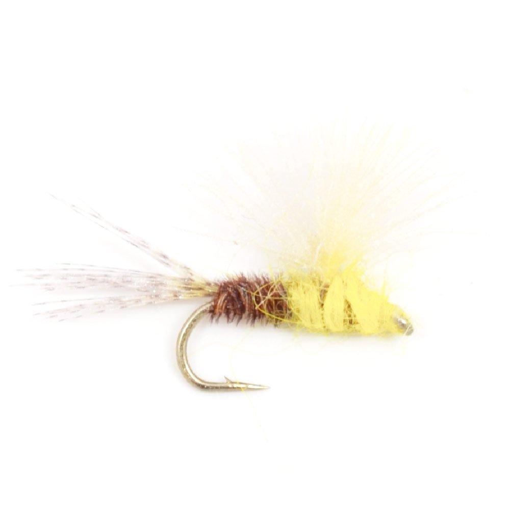 CDC White Moth Dry Flies Size 14 x 3 Trout Flies