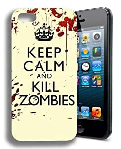 Keep Calm and Kill Zombies Funny Walking Dead Inspired Iphone 5 Case