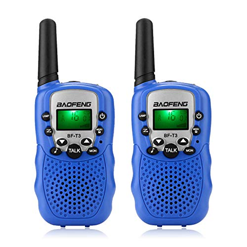 BaoFeng BF-T3 Walkie Talkies Toys for Kids Xmas Birthday Gifts Long Range Mini Two Way Radios for 3-12 Years Olds Boys Girls Children Toddler (2 Pack, Blue)