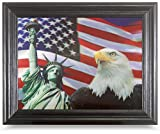 AMERICAN PRIDE 3D FRAMED Wall Art--Lenticular Technology Causes The Artwork To Have Depth and Move-HOLOGRAM Style Images-HOLOGRAPHIC Optical Illusions By THOSE FLIPPING PICTURES