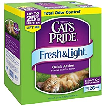 Cat's Pride Fresh and Light Multi-Cat Scoopable Premium Clumping Litter
