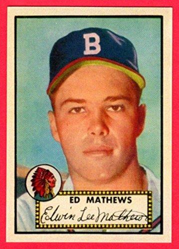 1952 Topps Reprint - Eddie Mathews 1952 Topps Baseball Rookie Reprint Card (Braves)