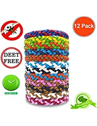 12Pack Protective Bracelet - Natural for Adults and Kids, Waterproof Wristbands, Indoor and Outdoor Protection, Multicolor