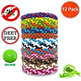 12Pack Mosquito Repellent Bracelet - Natural for Adults and Kids, Waterproof Wristbands, Indoor