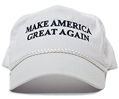 Make America Great Again Embroidered Donald Trump 2016 Cloth & Braid Hat White