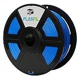 PLASFIL 3D Printer Filament PLA 1KG Spool (2.2 LBS), Adjustable Spool Aperture (60mm/32mm), Dimensional Accuracy +/- 0.03 mm, 1.75mm / Blue