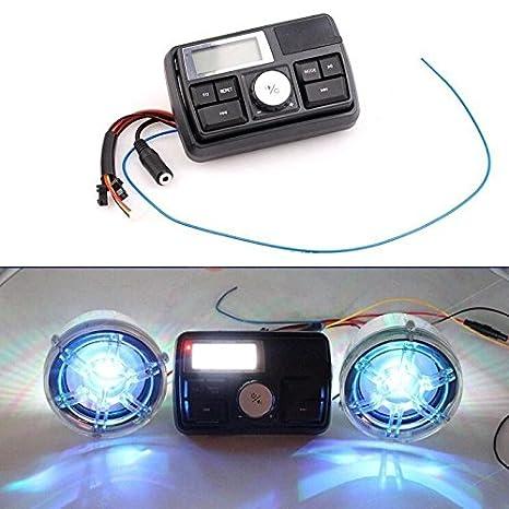 Amazon.com: Motorcycle Bluetooth Handlebar Audio System FM Radio Stereo Amplifier Speaker: Car Electronics