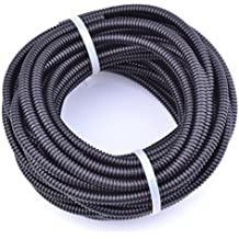 """30FT Polypropylene Split Wire Loom Tubing Computer Cable Management Wire Cover Electrical Cord Hider Hose Protector Prevent Chewing Tube (1/8"""" (4.5mm))"""