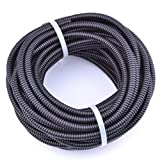 30FT Polypropylene Split Wire Loom Tubing Computer Cable Management Wire Cover Electrical Cord Hider Hose Protector Prevent Chewing Tube (1/8'' (4.5mm))