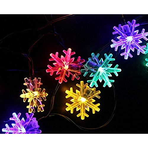 Snowflake string lights outdoor amazon aloadofball Image collections