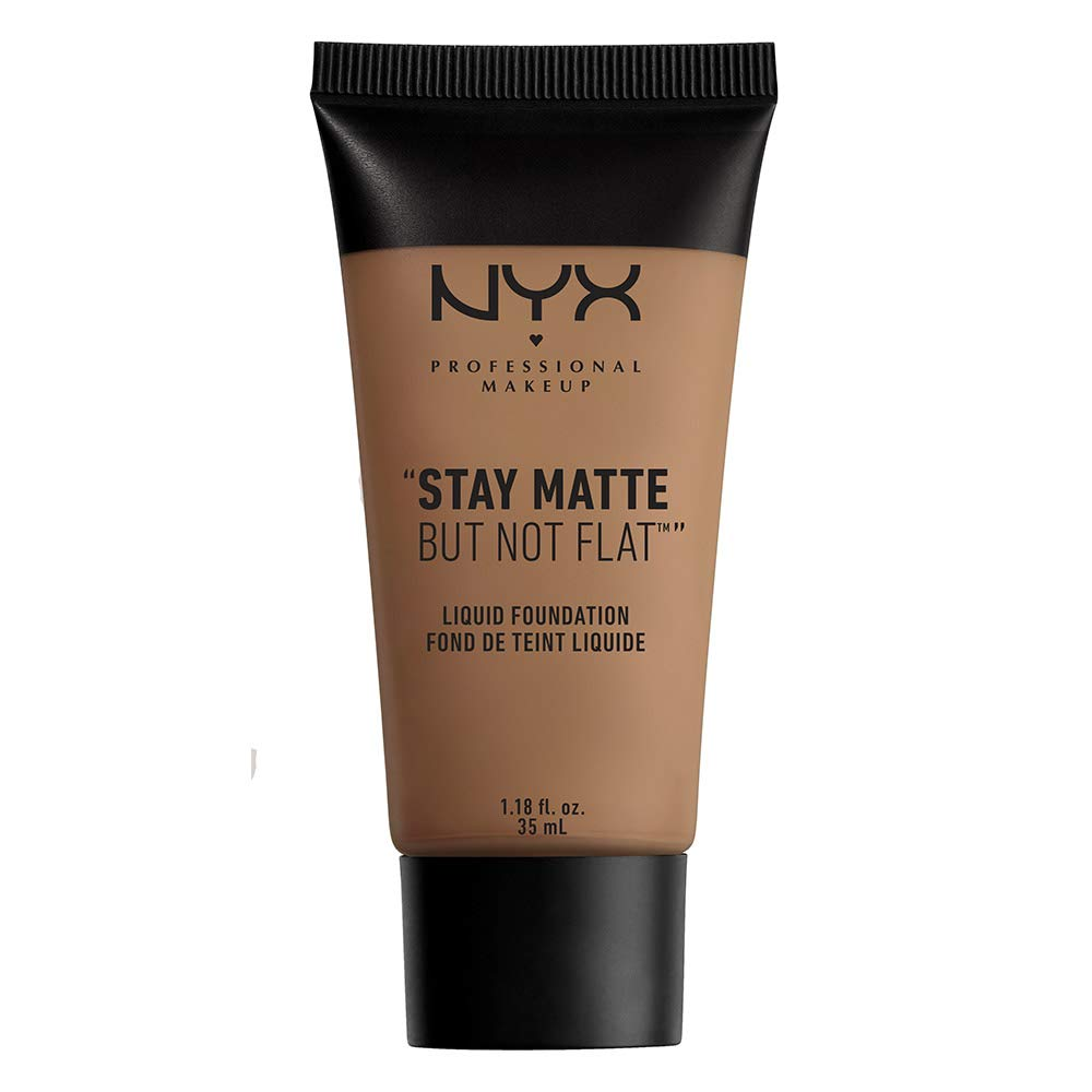 NYX PROFESSIONAL MAKEUP Stay Matte But Not Flat Liquid Foundation, Tawny, 1.18 Ounce