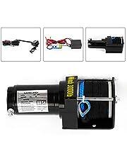 12V 3000LB Cabrestante Eléctrico Motor Cable de Elevación de Tracción 1360KG Winch eléctrico