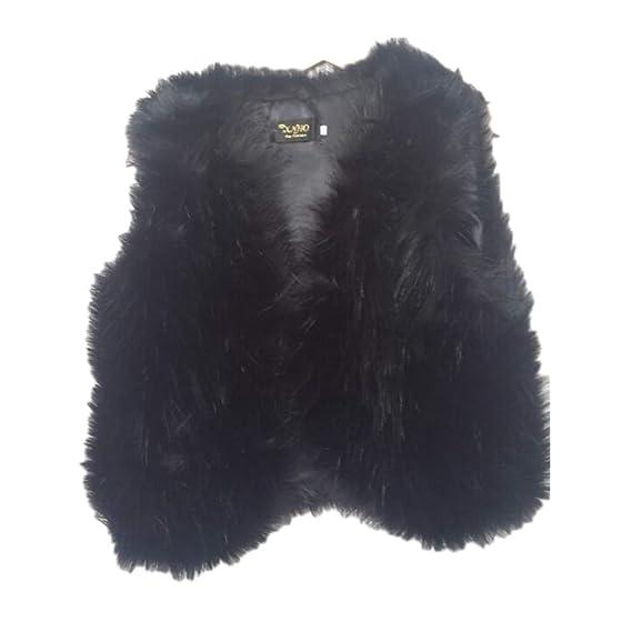 new product 094e0 6ca9c Guiran Damen Warm Jacke Weste Faux Pelz Kurz Felljacke ...