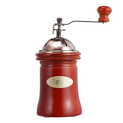 Zhuhaimei,Máquina de moler a Mano de Molinillo de café Manual de Madera(Color