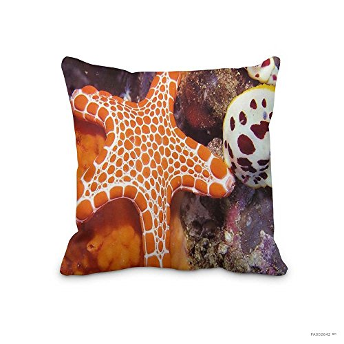 Festival Ornaments Pillow Case Starfish Underwater wallpapers christmas starfish anime Cushion Cover 18x18inch