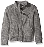 Image of PUMA Little Girls' Space Dye Zip-up Jacket, Medium Heather Grey, 6