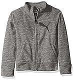 PUMA Big Girls' Space Dye Zip-up Jacket, Medium Heather Grey, X-Large (16)