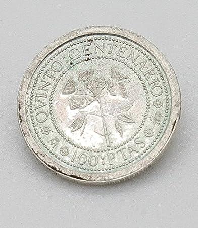 Moneda de Plata de 100 Pesetas de 1991. Moneda Conmemorativa del ...