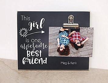 Amazon.com: Marco de fotos para mejores amigos, regalo de ...
