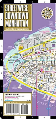streetwise downtown manhattan map laminated street map of downtown manhattan ny streetwise streetwise maps streetwise maps inc 9781931257466