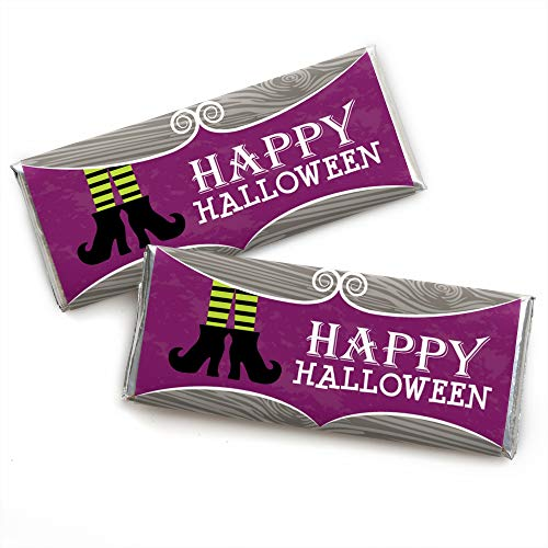 Halloween Candy Bar Labels (Big Dot of Happiness Happy Halloween - Candy Bar Wrapper Witch Party Favors - Set of)