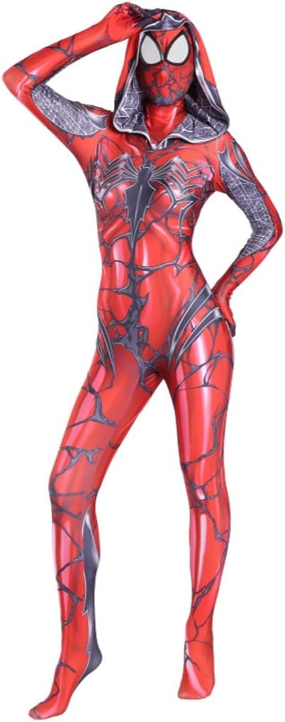 QWEASZER Spider-Man, Marvel Avengers Adulto Rojo Gwen Stacy Traje ...