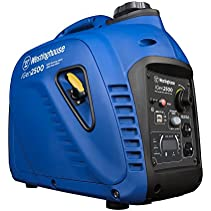 Westinghouse iGen2500 Portable Inverter Generator – 2200 Rated Watts & 2500 Peak Watts – Gas Powered
