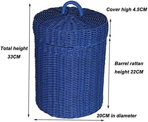 YLEI Multifunktionale Verdickter Eiskübel, Mini Edelstahl PE Rattan Eiskübel, Doppelwand-Isolierung, Fassungsvermögen 1000ml, sicher und ungiftig, für das Picknick-Parkdeck im Freien