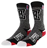 FBF Originals Mens Los Angeles Clippers NBA Downtown Socks Heather Black