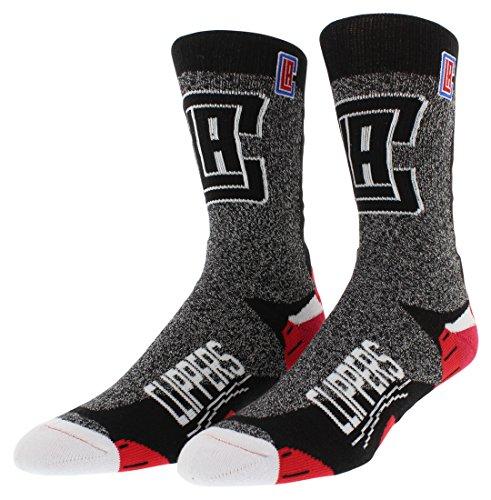 FBF Originals Mens Los Angeles Clippers NBA Downtown Socks Heather Black L