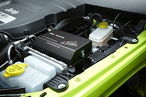 sPod 610-07-G - 6 Switch sPOD & Source System w/air Gauge for 07-08 Jeep Wrangler JK - All Green