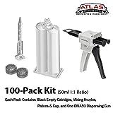 Atlas Pro 50ml/1.7oz Empty (100 Pack) 1:1 Ratio