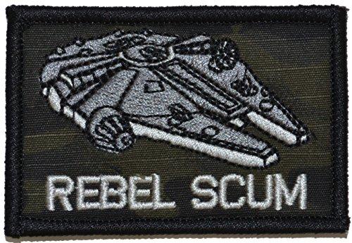 Rebel Scum Alliance Star Wars 2x3 Military Morale Funny Velcro Patch (Multicam BLACK) (Rebel Alliance Star Wars)