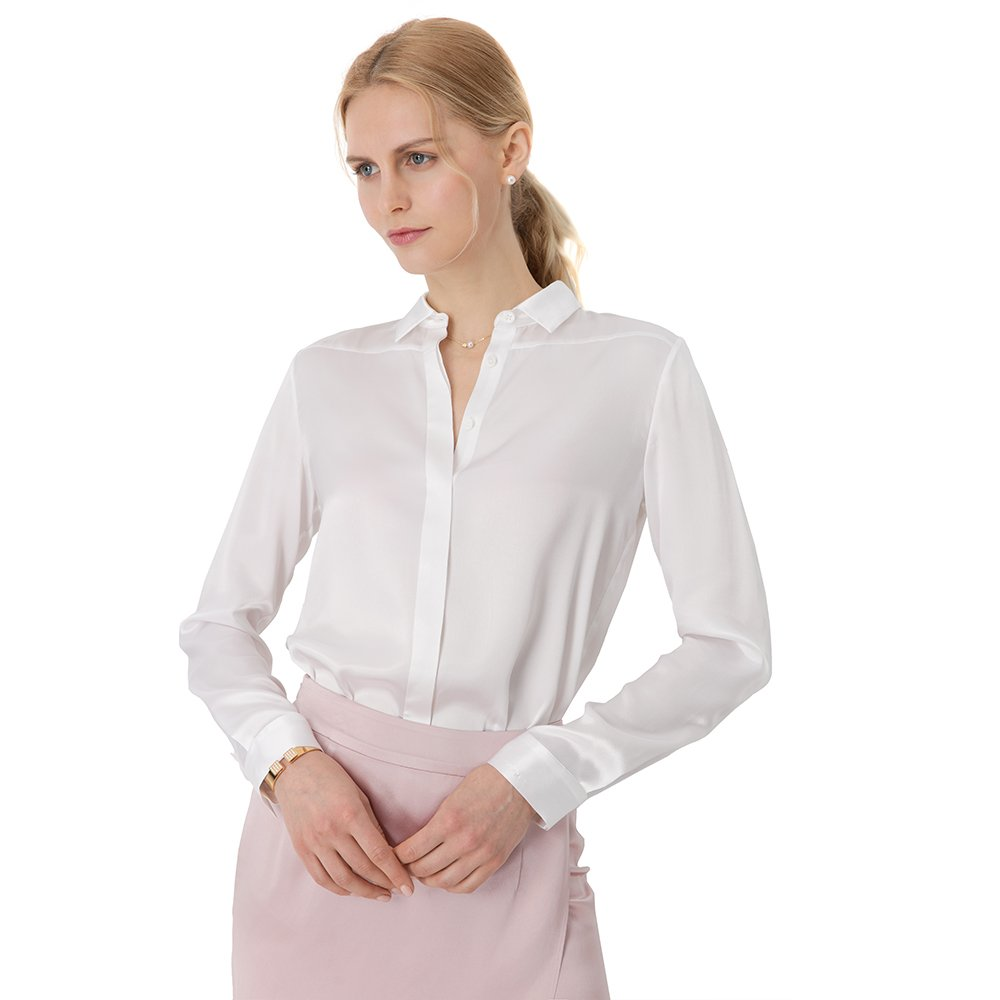 89dff4cc6f0d1d LilySilk Ladies Silk Blouse for Women Enjoy 100 Real Pure Mulberry 22MM Life  in Luxuriously Soft at Amazon Women s Clothing store
