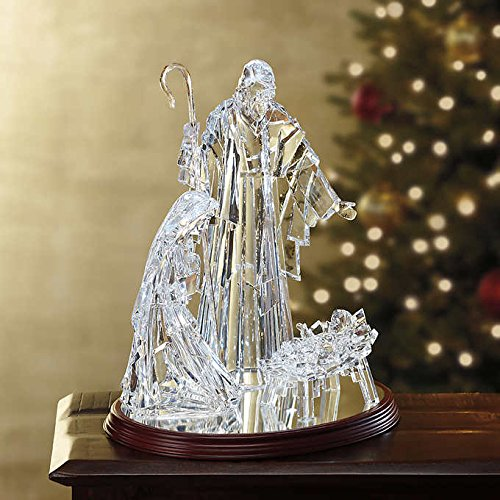 LED Illuminated Holy Family Scene by LED Illuminated
