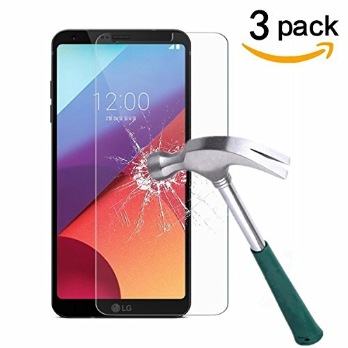 LG G6 Screen Protector,TANTEK [Anti-Bubble][HD Ultra Clear][Scratch Resist][Anti-Glare][Anti Fingerprint] Premium Tempered Glass Screen Protector for LG G6,-[3-Pack]