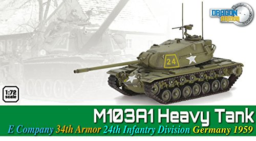 Dragon Models M103A1 Heavy Tank, E Company 34th Armor Division Germany 1959 Model Kit (1/72 Scale)